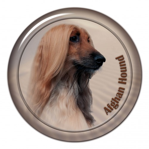 3D sticker Afghan Hound 101 C