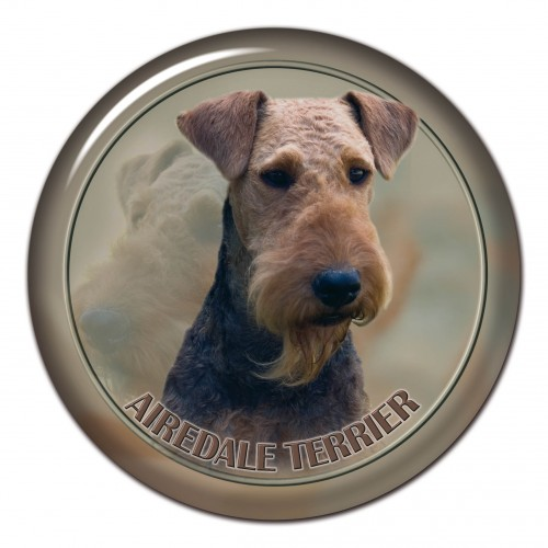 3D sticker Aierdale Terrier 101 C