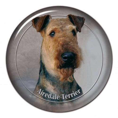 3D sticker Aierdale Terrier 102 C