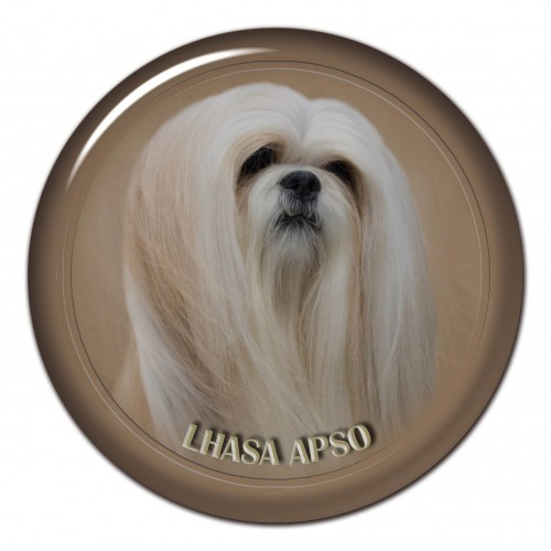 3D sticker Lhasa Apso 101 C