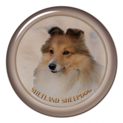 3D sticker Shetland Sheepdog 101 C