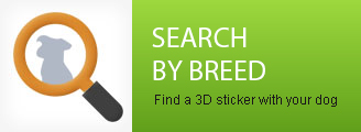 3D stickers search - Choose your dog breed