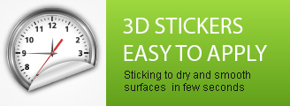 Easy-to-apply 3D stickers