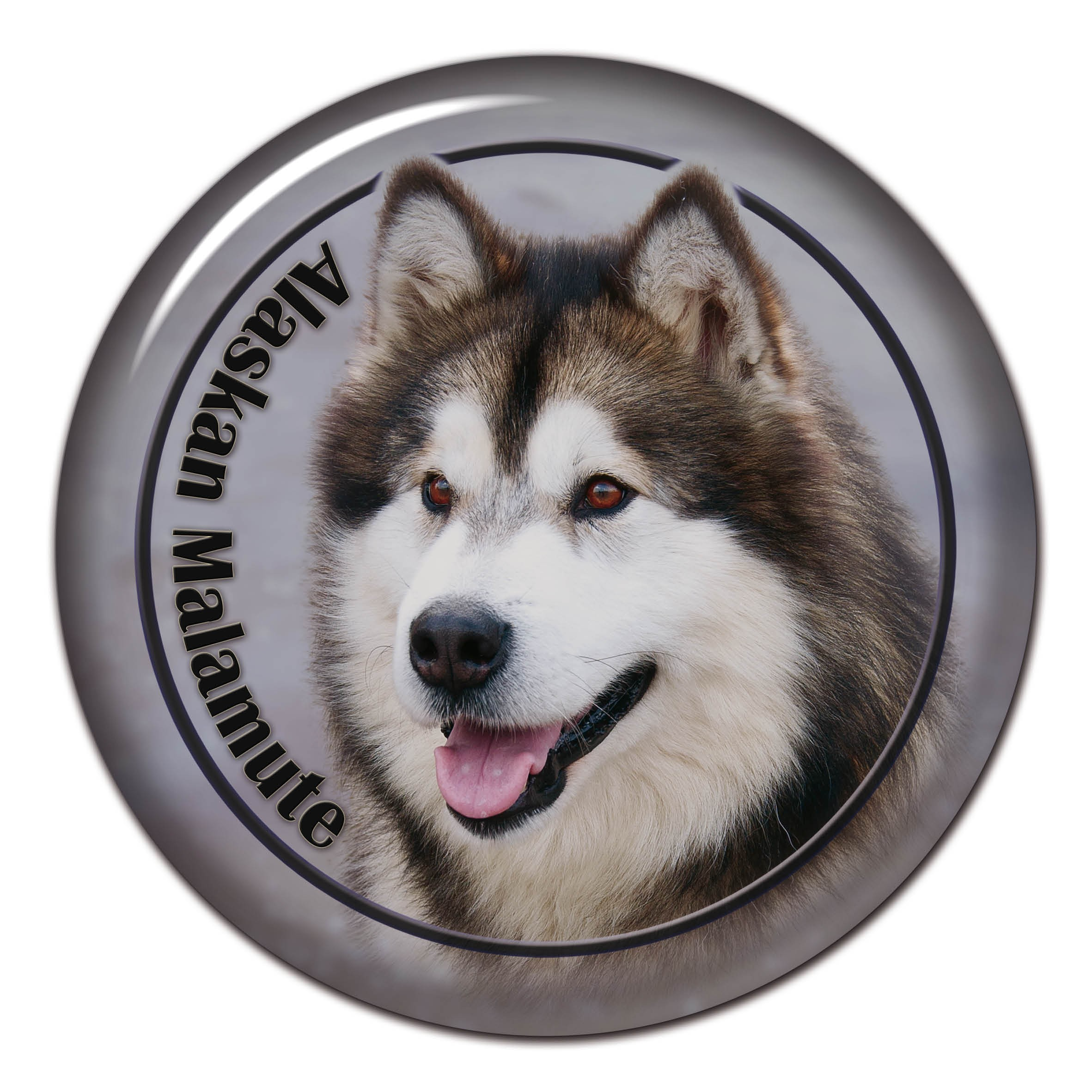 65 Mixed Alaskan Malamute Dogs Small Sticky White Paper Stickers Labels NEW