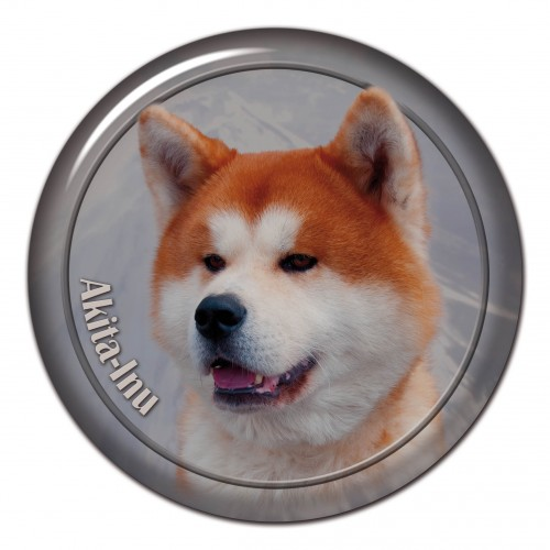 3D sticker Akita Inu 101 C