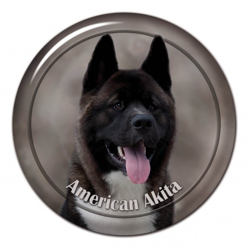 3D sticker American Akita 101 C